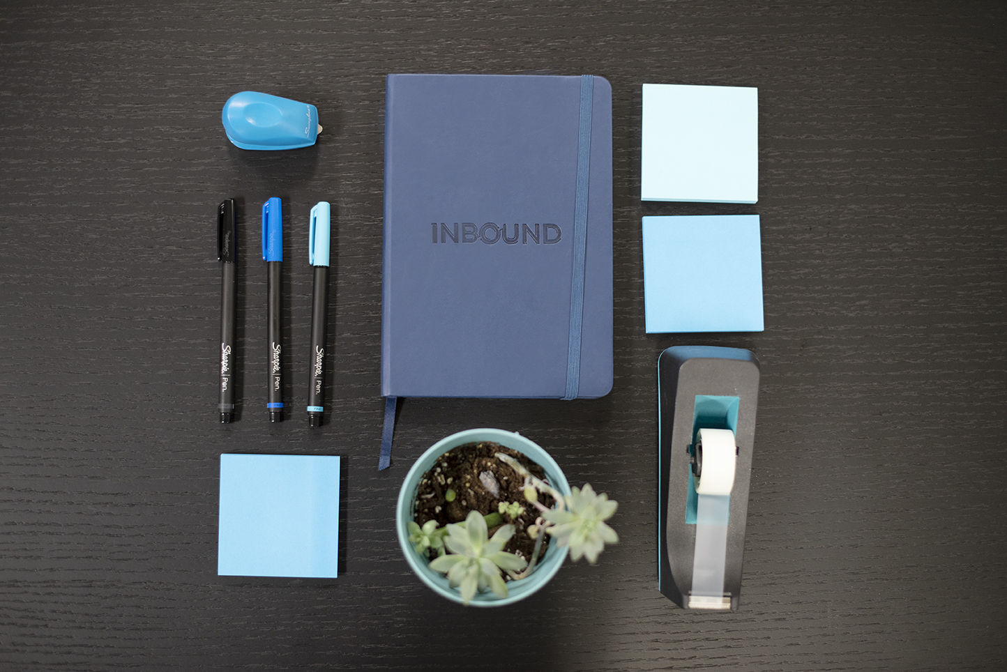 Inbound Collateral (Marker, Stapler, Notepads, Notebook, Plants, and Tape)